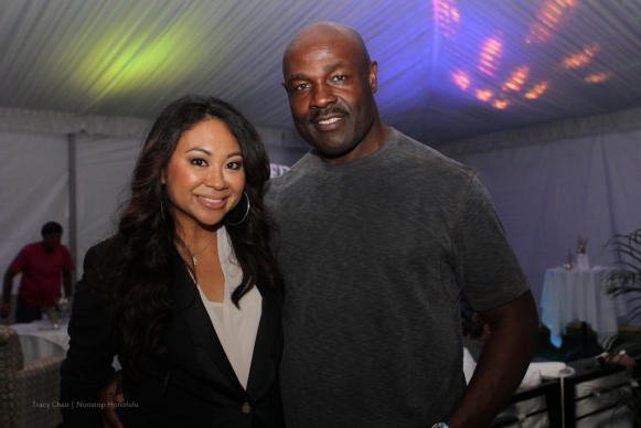footbal great Christian Okoye (Kansas City Chiefs Hall of Fame in 2000) and celebrity stylist and make-up artist Crystal Pancipanci