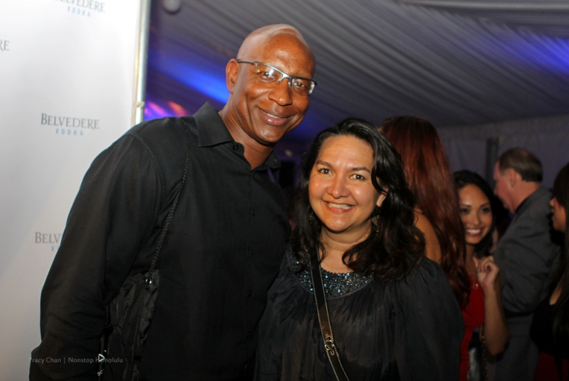 football great Eric Dickerson and Amanda Stevens